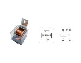 Универсално реле 20А 12V Vertex с 5 крачета прозрачно 1бр.