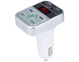FM Трансмитер за кола B2 TF,2 USB MP3 Player-бял 1бр.