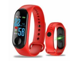 Фитнес Смарт Гривна M3 Amio Mi Band Tracker Смарт Wristband Крачкомер , Калории, Пулсомер ,Фитнес,Bluetooth,Напомняне за повикване,Червена 1бр.