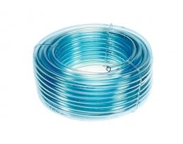 Маркуч за бензин и масло 1-слоен PVC прозрачно синьо 1метър 1м.