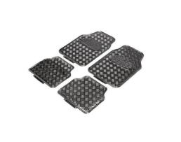 Комплект автомобилни стелки Eren, гумени никел ефект карбон , Комплект 4 броя 1кт.