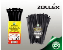 Пластмасови скоби ZOLLEX - размер 3,6 X 200мм черни 100бр.