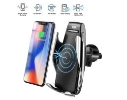 Стойка,държач безжично зарядно за телефон 10W Fast Wireless Charger Automax универсална за кола с функция  QI Fast Wireless Chargr S5 1бр.