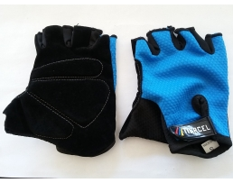 Ръкавици за мотор TIERCEL /Моторъкавици/, размер S, Черно и Синьо/Черно, Без пръсти 1кт.