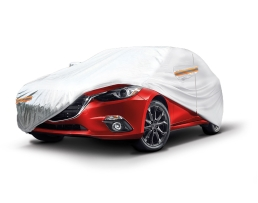 Покривало за кола,автомобил Amio, L 480x180x120cm. двойно подсилено и подплатено, Сивo, L 1бр.