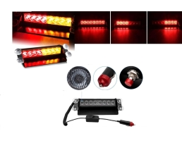 Блиц сигнална лампа HS 51057С, LED Strobo light, Жълто и Червено,Червено и Червено 1бр.