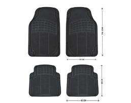 Комплект гумени черни автомобилни стелки предни и задни ARO 4001 Универсални 4 броя 1кт.
