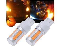 LED Крушки комплект T20 / W21W 2броя оранжежи 1кт.