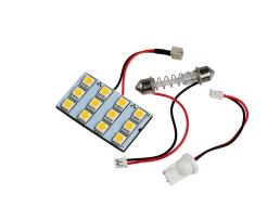 LED интериорна лампа за кола Vertex с 2 адаптера T10 , SV8.5  12 диода x 5050 SMD DC 12V в студено бяло 1бр.