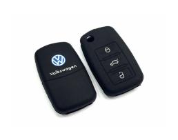 Кейс за ключ,силиконов калъф за дистанционно на VW / Audi 1бр.
