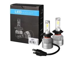 Комплект LED Лед Диодни Крушки за фар M-TECH H7 - 80W 10000 Lm, Над 150 % по-ярка светлина. 1кт.