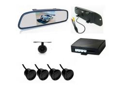 Парктроник с четири сензора  , камера за подпомагане паркирането , огледало с монитор Zappin WF-3 ;  44875; 6817 1бр.