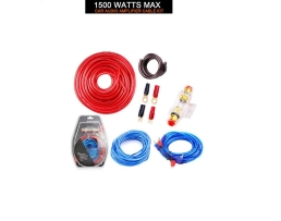Автомобилен комплект кабели за монтаж на усилвател Vertex Комплект кабели за авто музика с бушон 1кт.