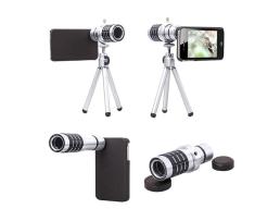 12X Zoom телескоп Auto max Мобилен телеобектив комплект със статив за Мобилен телефон 1бр.