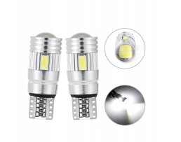 Автомобилни LED крушки W5W T10 6 SMD 5630 SUPER CAN BUS лупа 2броя 1кт.