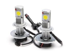 Комплект LED Лед Диодни Крушки за фар Amio H7 - 50W. 3600 Lm Над 150% по-ярка светлина. 1кт.