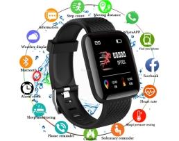 Фитнес Смарт Гривна M116 Amio Mi Band Tracker Смарт Wristband Крачкомер , Калории, Пулсомер ,Фитнес,Bluetooth,Напомняне за повикване и др,Черна 1бр.