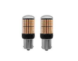 Комплект диодни крушки за кола Amio,Мигачи,Индикаторни лампи,Оранжева,BA15S , 12 Лед,12V 1кт.