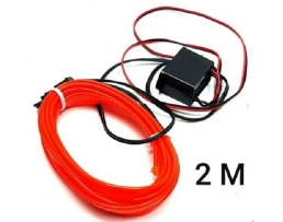 Диодна LED лента за табло на автомобил, 2 метра, Червена, Синя или  Бяла 1бр.