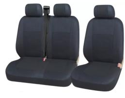 Тапицерия Car Line 2+1 Калъфи Седалки за Sprinter Vito Vw Crafter T5 Ford Transit Peugeot Сиво+черно 1кт.