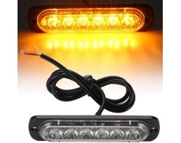 Предупредителни мигащи светлини Autoexpress, Блиц 6-LED, Универсални, 12V-24V, Аварийни маяци, Мигаща лампа, Страничен маркер, за мотоциклет бус камион 1бр.