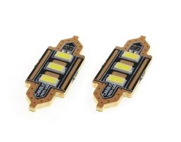 Комплект диодни Led , лед крушки за интериор,осветление номер Amio Festoon C5W 3xSMD 5730 12V 39mm 1кт.