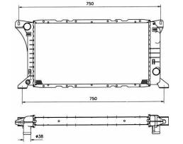 Воден радиатор за FORD Transit 1.6, 1986-1991, 1641903 1бр.