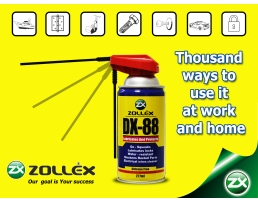 Спрей Zollex DX-88 Многофункционално средство за смазване и защита срещу корозия 280мл.