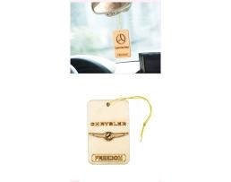 Ароматизиращи дървени висулки,освежител за въздух с лого на автомобил 1бр.