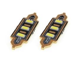 Комплект диодни Led , лед крушки за интериор,осветление номер Amio Festoon C5W 3xSMD 5730 12V 41mm 1кт.