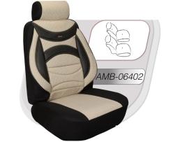 Автотапицерия за предни и задни седалки Andromedia, Пълен комплект 8 части, Бежов 1кт.