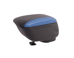 Универсална черна + синя конзола ,Подлакътник с плъзгаща опора, Кожена кутия за съхранение в автомобила 1бр.