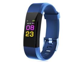Фитнес Смарт Гривна 115 Vertex Mi Band Tracker Смарт Wristband Крачкомер , Калории, Пулсомер ,Фитнес,Bluetooth,Напомняне за повикване,Синя 1бр.