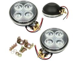 Комплект Лед Диодни Халогени Autoexpress WL50012R,LED IP67 ,4 LED ,9W, Kръгъл 1бр.