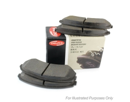 Комплект предни спирачни накладки DELPHI LP1418, за FORD Courier Pickup Fiesta IV Ka Van 95-11 1130715 1кт.