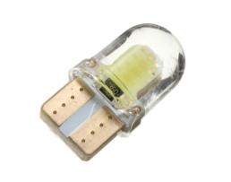 Светодиодна крушка LED VERTEX SILIKA COB T10e (W5W) бял 12V 1бр.