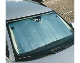 Сенник сребърен слънцезащитен за предното стъкло - 130х60 см 01536 1бр.