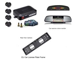 Парктроник с четири сензора  , камера за подпомагане паркирането вградена в стойката за номера  , огледало с монитор Zappin WF-4 ;  47974; 6817 1бр.