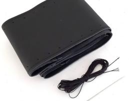 Калъф за волан Amio,За шиене,Изкуствена кожа ,Черен с черен конец ,Размер М 37-39мм 1бр.