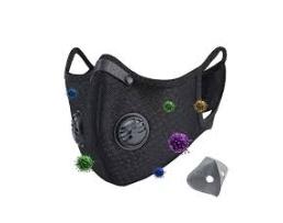 Предпазна маска за многократна употреба с 2 клапана и филтър с активен въглен, EAN 1бр.