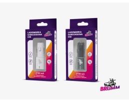 USB зарядно за кола BRUMM 2100mA - Два цвята 1бр.