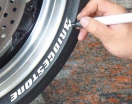 Маркер перманентен за надписи върху гуми бял 1бр.