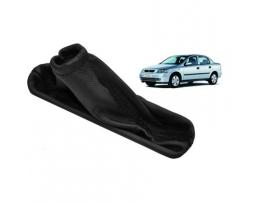 Маншон за лост ръчна спирачка Подходяща за Opel Astra G Eren  Качествена Еко кожа 1бр.