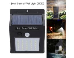 Соларна лампа Vertex  25 LED, с PIR Датчик за движение и 120 ° -180 ° сензорсширокоъгълен светлинен лъч 1бр.