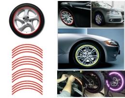 Светлоотразителни стикери за джанти Autoexpress, Червени, Комплект, AG555B 1кт.