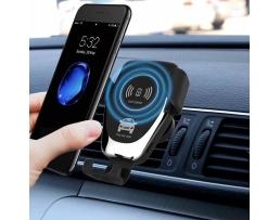 Гравитационен държач за кола | Индукционно зарядно устройство Fast Charge 10W 1бр.