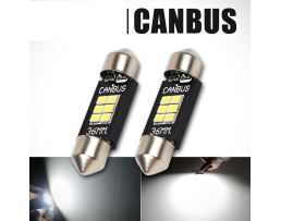 Комплект диодни Led , лед крушки за интериор,осветление номер Amio Canbus Festoon C5W 6xSMD Philips 3020 Chipset  12V 36mm 1кт.