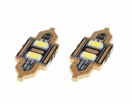 Комплект диодни Led , лед крушки за интериор,осветление номер Amio Festoon C5W 2xSMD 5730 12V 31mm 1кт.