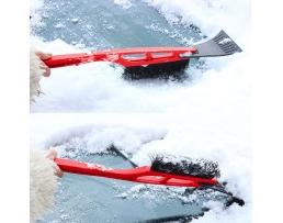 Стъргалка с четка за почистване автомобила от лед и сняг 1бр.
