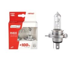 Комплект 2броя халогенни крушки за фар Amio H4 12V 60/55W LumiTec SILVER +100% DUO BOX 1бр.